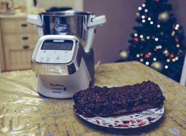 Rotolo al cioccolato e ricotta con Moulinex iCompanion