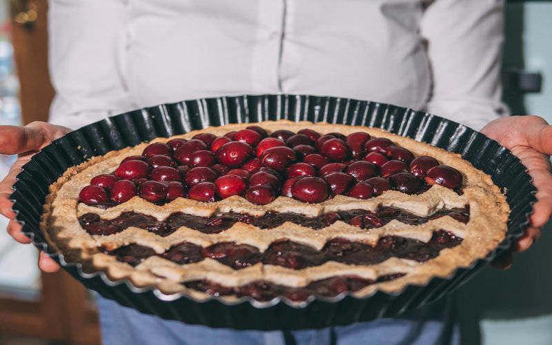 ricetta crostata di ciliegie