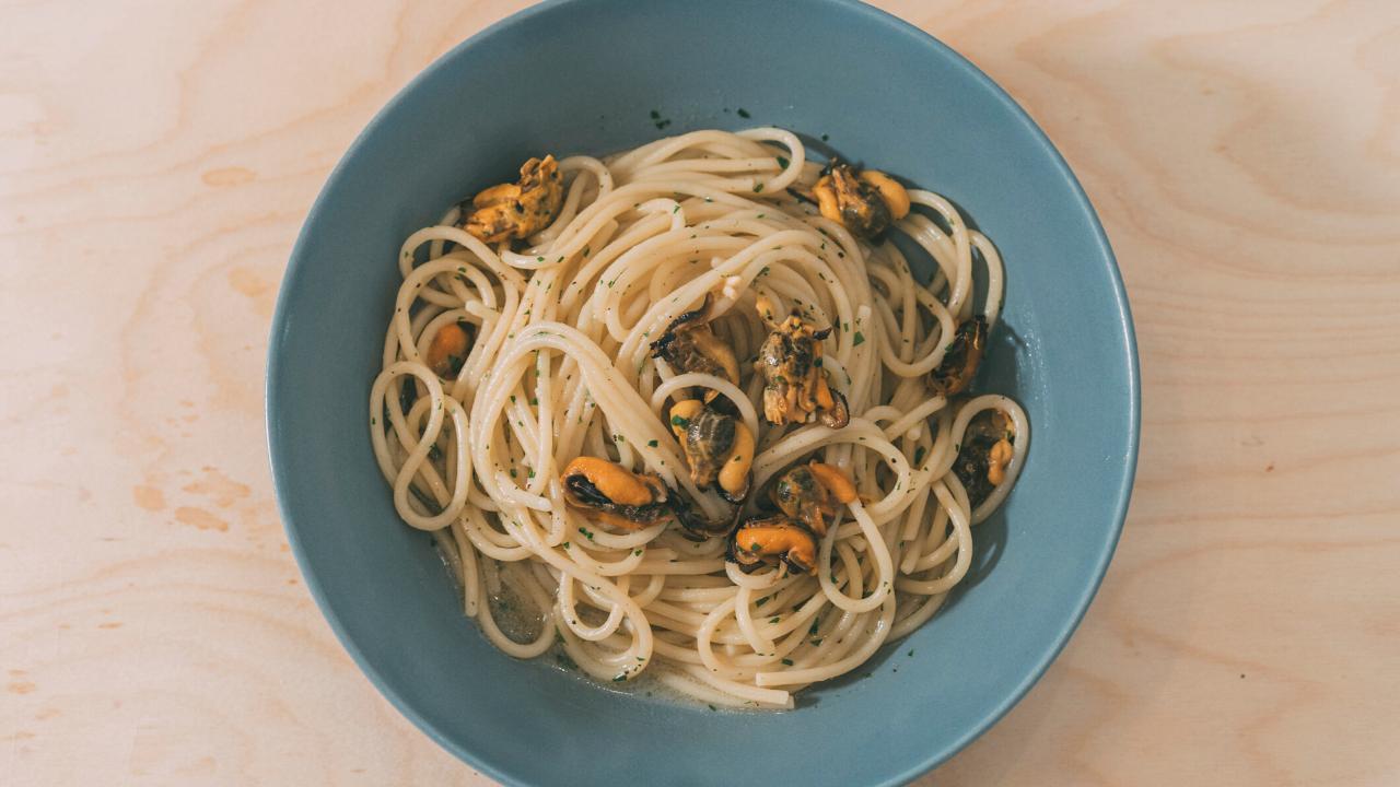 Spaghetti con le cozze ricetta