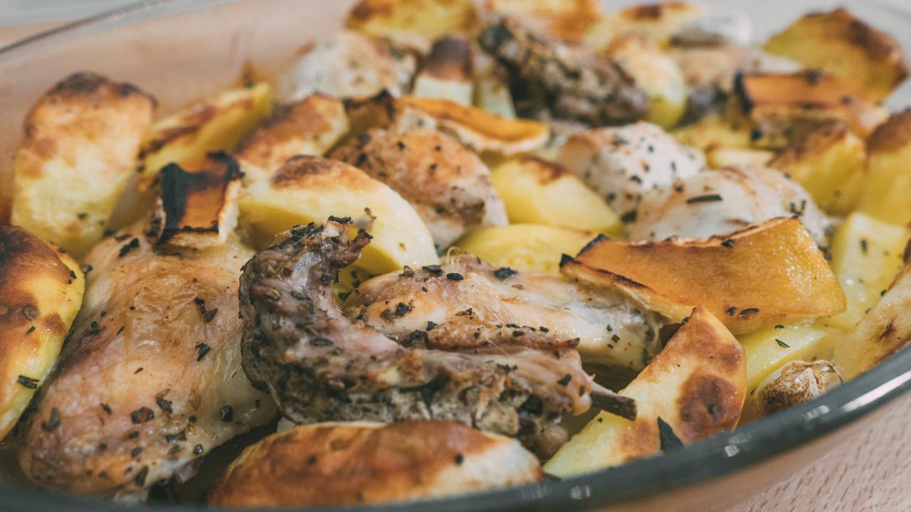 pollo e patate facile e veloce